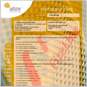 FR-Oxford HI-VIZ fabric has been certified to EN 20471