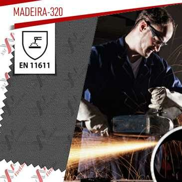 Madeira-320 flame retardant fabric update to EN 11611:2015