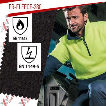 FR-Fleece-280 certified to EN 11612 & EN 1149