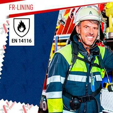 FR-Lining flame retardant fabric certified to EN 14116